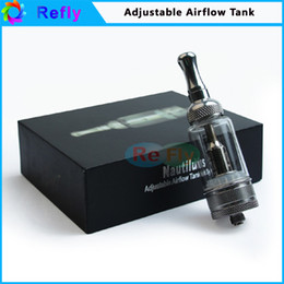 Wholesale Electronic Cigarettes Adjustable Airflow Tank System ml Atomizer Nautilus Clearomizer Huge Vapor Vaporizer Cartomizer Clear Refly