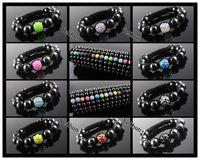 Wholesale SL563 Shambhala beads woven resin diamond ball Hematite Shamballa bracelet jewelry trade