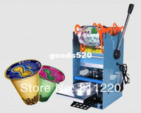 Wholesale Bubble tea cups sealing machine boba PP cup sealer tools packaging equipment for food commercial electrical W V handy