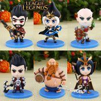 Wholesale New LOL Champions Action Figures Ashe Darius Gragas Graves LeBlanc Singed Figures cm Set League of Legends Game Accessories Q Model