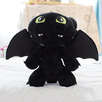 marionette - 1pcs Retail quot cm HOW TO TRAIN YOUR DRAGON MINI PLUSH Toothless Night Fury Stuffed Animal toy Doll Black Anime Comics Cheap z