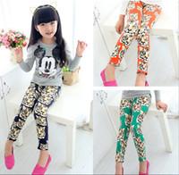 Wholesale Newest Girls Leggings Girls Cotton Tights Tiger Printed Pants Children Leisure Leggings Baby Girls Trousers