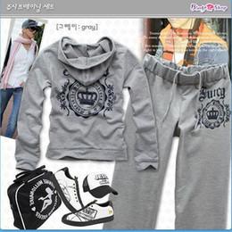 crown women coat women's Sport Suit clothing set Hoodie Sportswear casual SweatshirtThin (1set=swearshirt+trousers)