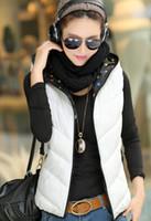 Wholesale Hot colors New winter fashion plus size down cotton hooded vest A08