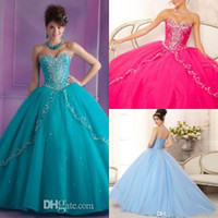 Reference Images quinceanera dress - 2015 Trendy Fashion Ball gown Quinceanera Dresses Floor length Sweetheart Sleeveless Lace up Tulle Satin Beading Quinceanera Gown Prom