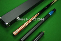 Wholesale Handmade Limited Edition Grey Ebony Butt Ash Shaft Snooker Cue With Free Case Extension Mini Butt