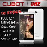 Cheap freeshipping Android 4.2.2 Smart phone cubot one HD MTK6589T QuadCore 1.5GHz 4.7Inch HD IPS Screen,1GB RAM+8GB ROM 13MPCAMERA