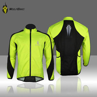 Wholesale WOLFBIKE Sports Men Fleece Windproof Coat Cycling Jersey Long Sleeve Winter Jacket Outdoor Bicycle Cycle Wear Clothing M XL