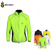 Wholesale WOLFBIKE Outdoor Sports Winter Cycling Jersey Breathable Men Wind Coat Long Sleeve Riding Jacket Bike Clothing M XL Colors