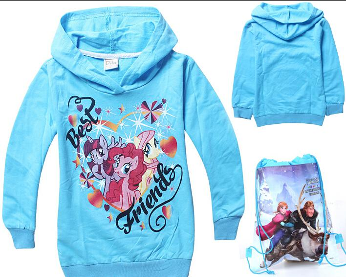 FREE GIFT!my Little Pony Girls Hoodies! Outerwear.kids Clothes / Clothings.Hooded.Terry Pullover Sweatshirt!DROP SHIPPING.HOT SALE