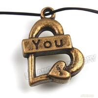 Wholesale x Zinc Alloy Bronze Heart Love Pendants Jewelry Accessories mm