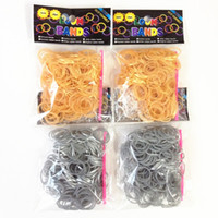 Wholesale Metallic Loom bands gold and silver or mixed colors best gift for kids bands S hook