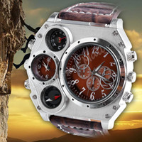 Cheap High Quality New Mens Military Army Quartz Dial Clock Movements Watch Leather Sports Wristwatch #6 SV006174