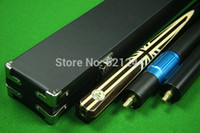 Wholesale 58 quot Handmade UK Flag Grey Ebony Butt Ash Shaft Snooker Cue With Free Case Extension Mini Butt