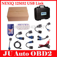 Cheap 2014 Professional NEXIQ 125032 USB Link With All Adapters For Diesel Truck Diagnostic Tool Nexiq With Plastic Box DHL Shipping