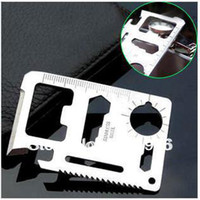 Cheap 11 in 1 Stainless Multi-tool Credit Card Survival Tool Multifunction Card Knife Emergency Survival Knife Mini Multi Tool