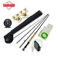 Cheap Hot Sale 3 4# 4 Segments Sections Fly Fishing Rod+Full Metal Reel+WaterProof Rod Bag+Lines+Box+Lure Super Quality Set Kit