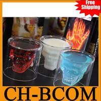 Wholesale New off Creative mugs Doomed Crystal Skull Shot Glass Crystal Skull Head Vodka Shot Glass ounces