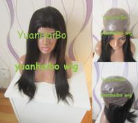 thin skin wig - 5a quality inch b silky straight virgin brazilian full pu cap thin skin wig