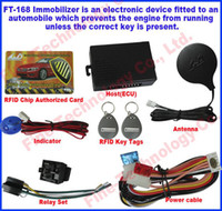 Cheap free shipping effective key transponder chip anti-theft system 12Voltage RFID transponder immobiliser car alarm for Asia