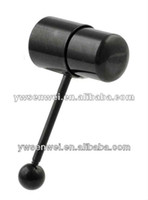 Cheap Wholesale-BLACKLINE Vibe Bell Vibrating Tongue Ring Barbell body piercing jewelry flesh expander barbell bar free shipping Anodized charm