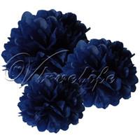 blue tissue paper - cm quot Navy Blue Tissue Paper Pom Poms Wedding Birthday Party Home Decor Craft Favors