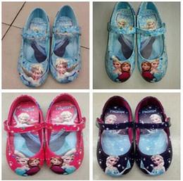 Wholesale Frozen Dance shoes Elsa Princess Shoes frozen for Girls Size Frozen Shoes ORIGINAL Girls Frozen Shoes pairs