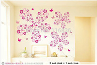 Wholesale Hot selling Flowers Butterfly DIY Removable Wall Sticker Decal home Bedroom for Kids Children stickers