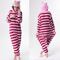 Wholesale Cheshire Cat Anime Costume Onesies Pajamas Kigurumi Jumpsuit Hoodies Adults Cosplay Costumes