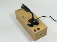 Wholesale 2014 Portable Studio Speech Mini USB Microphone Mic With Holder For PC Laptop CEL007