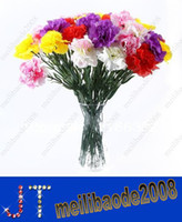artificial carnations - Artificial Carnation Silk Flowers Bouquet Party Home Graden Decoration Gifts Drop Shipping HSA0790