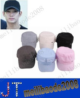 Wholesale NEW Solid Color Unisex Cotton Casual Trucker Military Cadet Army Hat Baseball Cap Sun Sport Adjustable EAC MYY2602A