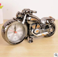 Wholesale 2014 New High Quality Motorcycle shape Needle Creative Alarm Clock Cool fashion personality home gifts H