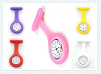 nurse gifts - Christmas Gifts Colorful Nurse Brooch Fob Tunic Watch Silicone Cover Nurse Pocket Watches
