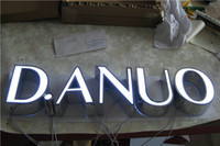 custom acrylic - Factory Outlet Custom Outdoor advertising front lit Acrylic led channel letters signs