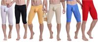Cheap Brand Summer Short Men Pants Transparent Pants Brand Men's Sexy Shorts Mens See-Through Short Underwear Men's Mesh Fishnet Boxers Underpants