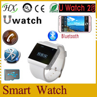 Cheap 2014 new arrival!U watch 2S waterproof Smart bluetooth watch 2S WristWatch U Watch for iPhone5 5S 4 4S HTC LG Android SmartPhone free ship