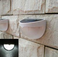 Wholesale 2014 LED Wall mounted Solar Lamp PIR Sensor Led Light with Light Voice Control Outdoor Water proof Garden Yard Stair sensor light