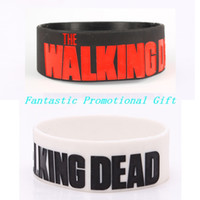 Wholesale 5 set The Walking Dead simple design Silicone bracelet inch Silicone wrist band BRACELET mix order welcome