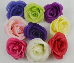 Silk Flower Head Rose 8cm * 5cm 100Pcs High Quality Artificial Roses for DIY Wedding Supplies Hair Accessories Photograph Props