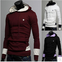 Cheap Men hoodies ebay selling men's pullover hooded mixed colors casual sweater cardigan jacket