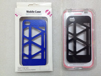 Wholesale PC material mobile phone case for Iphone4S smooth surface bird nest style blue color