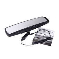 Wholesale Universal Car Rearview Mirror Bluetooth Handsfree LCD Display Car MP3 Player FM Transmitter Rear View Mirror K1362