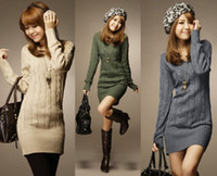 long casual dresses - Details about Casual Womens Sweater Jumper Long Top Mini Dress Pullover Fashion V Neck Tops