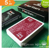 Wholesale have colors can choose wine red and black plastic playing cards poker stars hot selling new top sale freeshi