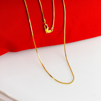 Wholesale High quality cm long K yellow gold plated chain for men women inches mm g thin long gold necklace B013