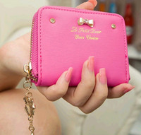 Wholesale 2014 Korean Fashion Wallet Lovely Female Bow Knot Coin Purses DH04