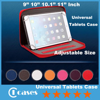 Cheap For 9 Inch 10 Inch 10.1 Inch 11 Inch Universal Tablets Case Adjustable Size Zippered Leather Bag Case Stand For 9'' 10.1'' 10'' 11'' Tablets