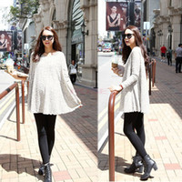 Wholesale Fashion Korea Women Round Neck Long Sleeve Lace Design Pregnant Dress Maternity Dress