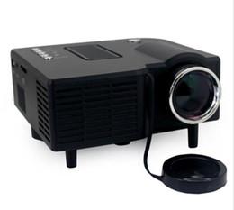 Nueva UC28 UC28 + pico portátil llevó el mini proyector HDMI videojuego digital de bolsillo proyector de cine en casa projetor de 80